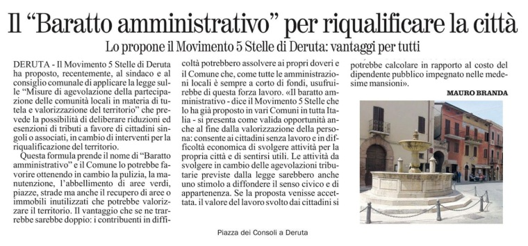Articolo Corriere Dell'Umbria del 28/7/2015